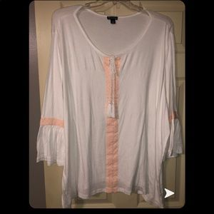 White & Orange Blouse